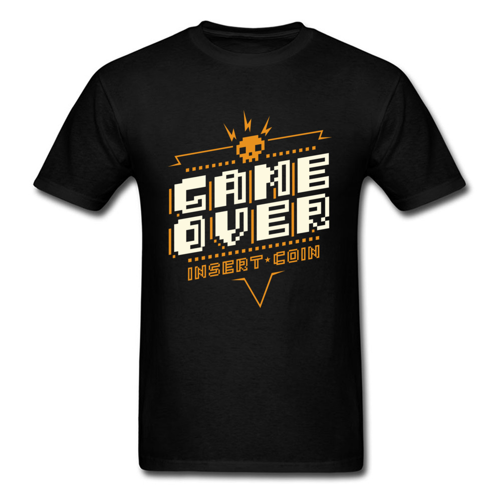 New Game Over T Shirts Fitted T Shirts Men GG Tshirt Funny