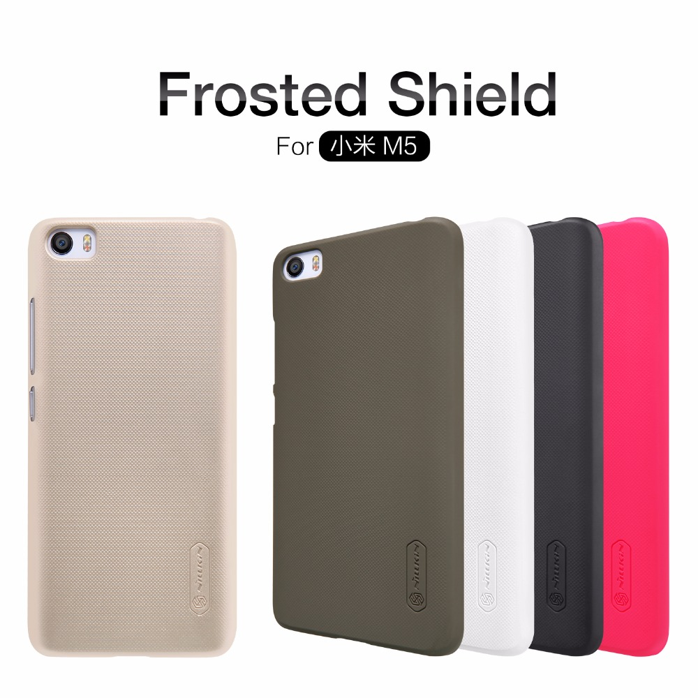 xiaomi mi5 Case xiaomi mi5 cover NILLKIN Super Frosted Shield hard back cover case with free screen protector and Retail package
