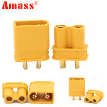 10pcs Amass XT30U Anti slip Power Connector 2MM Bullet Connectors Plugs for RC Lipo Battery 5pair