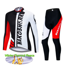 Winter Thermal Fleece Long Sleeves Cycling Jersey Set Pro Cycling Clothing Suit Bike Wear MTB Bicycle Maillot Ropa Ciclismo цена 2017