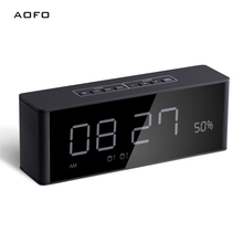 Alarm clock portable bluetooth speaker with 12H or 24H time display/TF/FM/Rechargeable battery 2000mAH/ Snooze mode/LED display cm600ha 24h cm600ha 28h cm600ha 12h cm400ha 24e