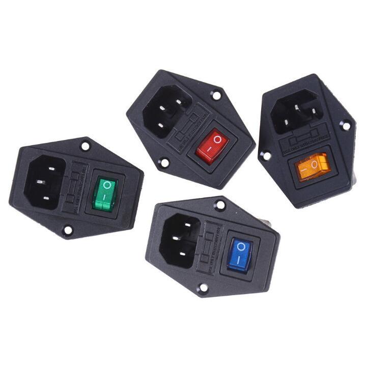 Free Shipping 1pcshot 10a 250v Inlet Module Plug Fuse