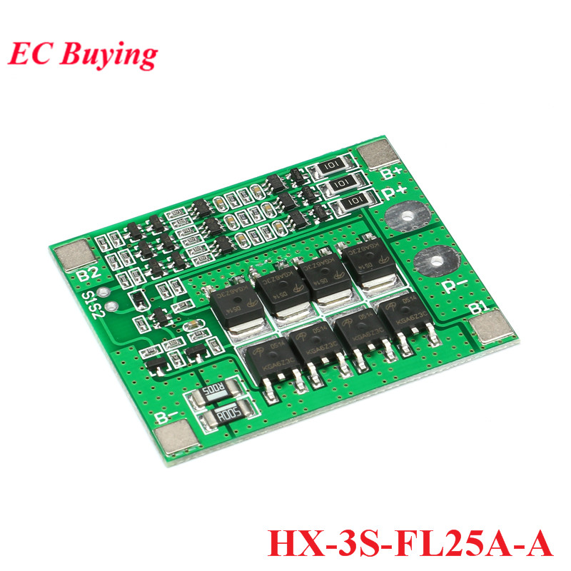 3 S 12.6 V 25 A 18650 Li-Ion Batterie au lithium capacité indicateur protection board