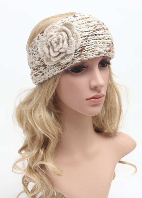 Womens Crochet Ear Warmer Crochet Earwarmer Headband Head Wrap With