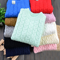 children sweater boy girl pullover solid color baby clothes