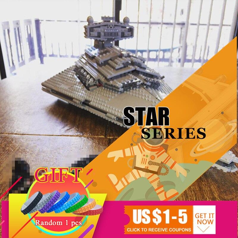 05062 1359pcs fighters starship star wars super destroyer model Building kits Blocks Bricks 75055 Toys for boys