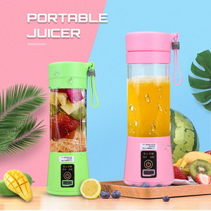 380ml Portable juicer Blender multi-function Electric USB Rechargeable Fruit cut Mixer juice cup Six Blade Household Travel Use