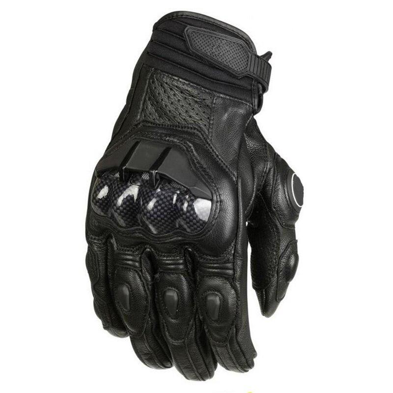 Motorcycle Gloves Men Leather Mesh Racing Motocross Motorbike Gloves