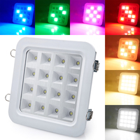 New Sound Activated Control 16W SMD5050 LED Panel DownLight Disco Party DJ Home Lamp Music Show Strobe Projector Stage Lighting