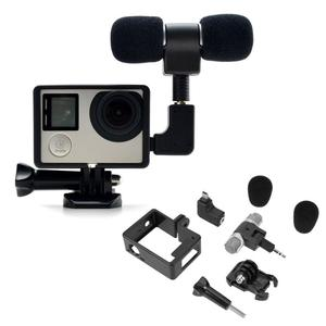 Image 3 - Alloyبالدخول ميكروفون صغير ستيريو 3.5 مللي متر الرياضة عمل كاميرا اكسسوارات Mic ل GoPro بطل 3/3 +/4 مع USB صغير إلى 3.5 مللي متر محول