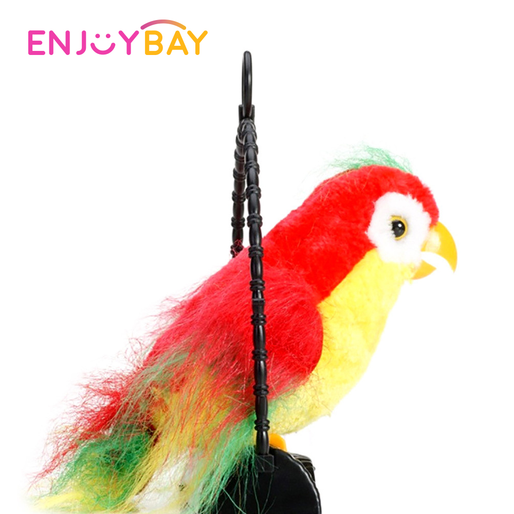 Electronic Waving Talking Parrot Toy Cute Parrot Speaking Record Repeat After You Waving Wings Electronic Bird Stuffed Plush Toy