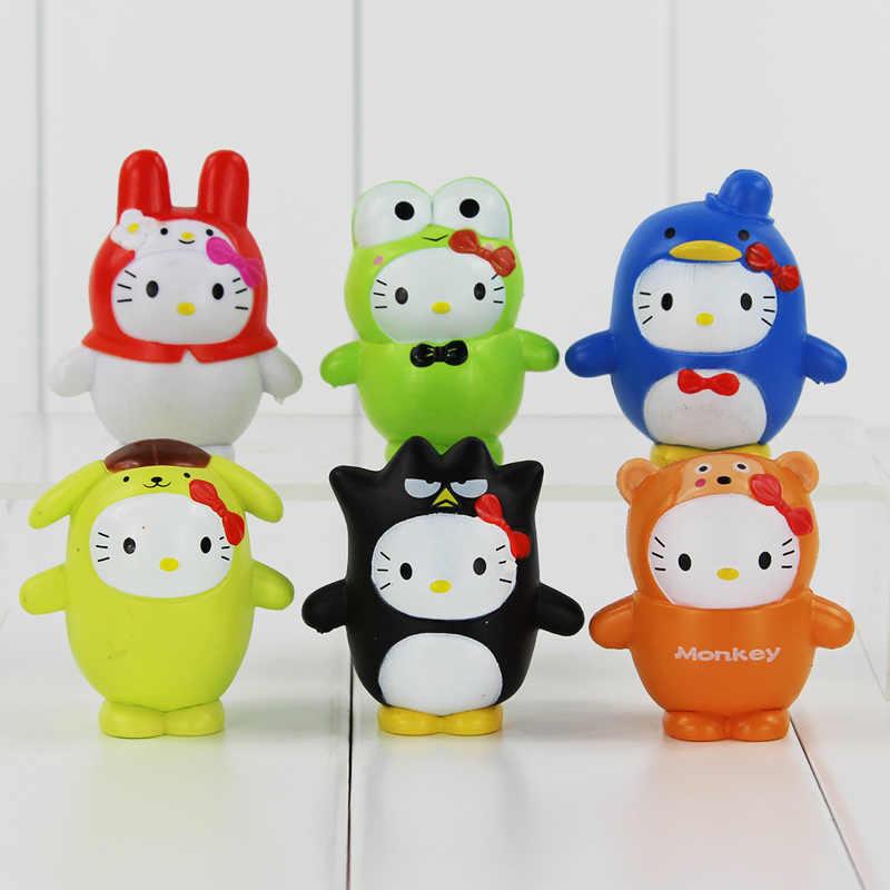 2c47ef505 6Pcs/Lot My Melody Doll Set Toy Sanrio Hello Kitty Cosplay badte-maru  Keroppi