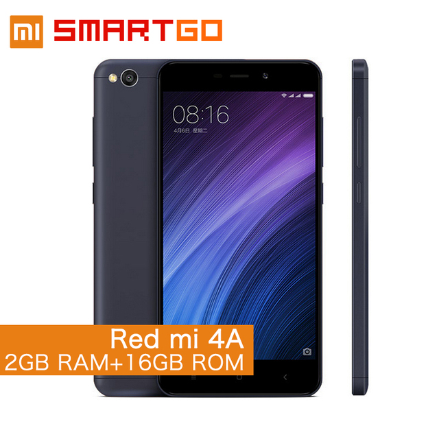 """Оригинальный Xiaomi Redmi 4A Snapdragon 425 Quad Core 2 г Оперативная память 16 г Встроенная память FDD LTE 4 г 5"""" 13MP MIUI 8.1 OTA мобильного телефона глобального Встроенная память"""