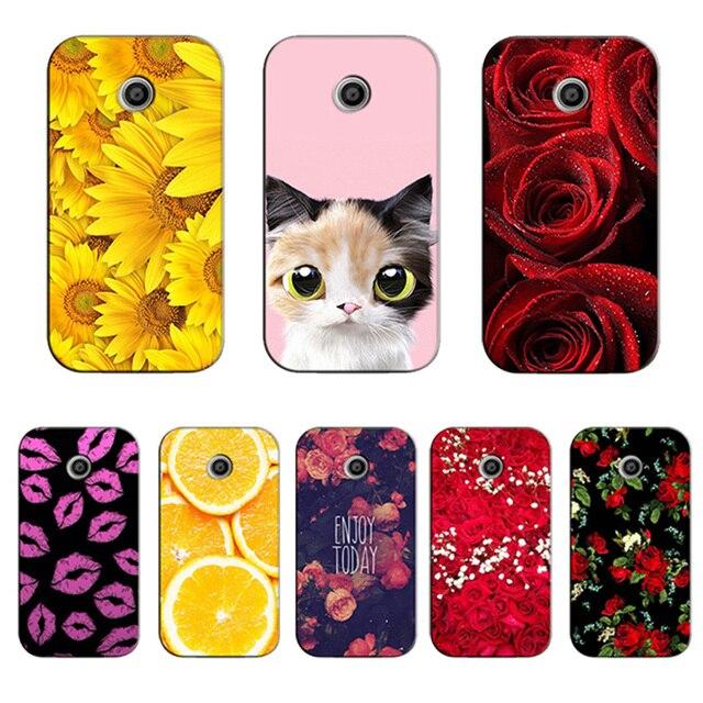 3014b4011a1 Fundas para Motorola Moto e caso lindo gato Owl Deer animal caso para moto  XT1021 XT1022
