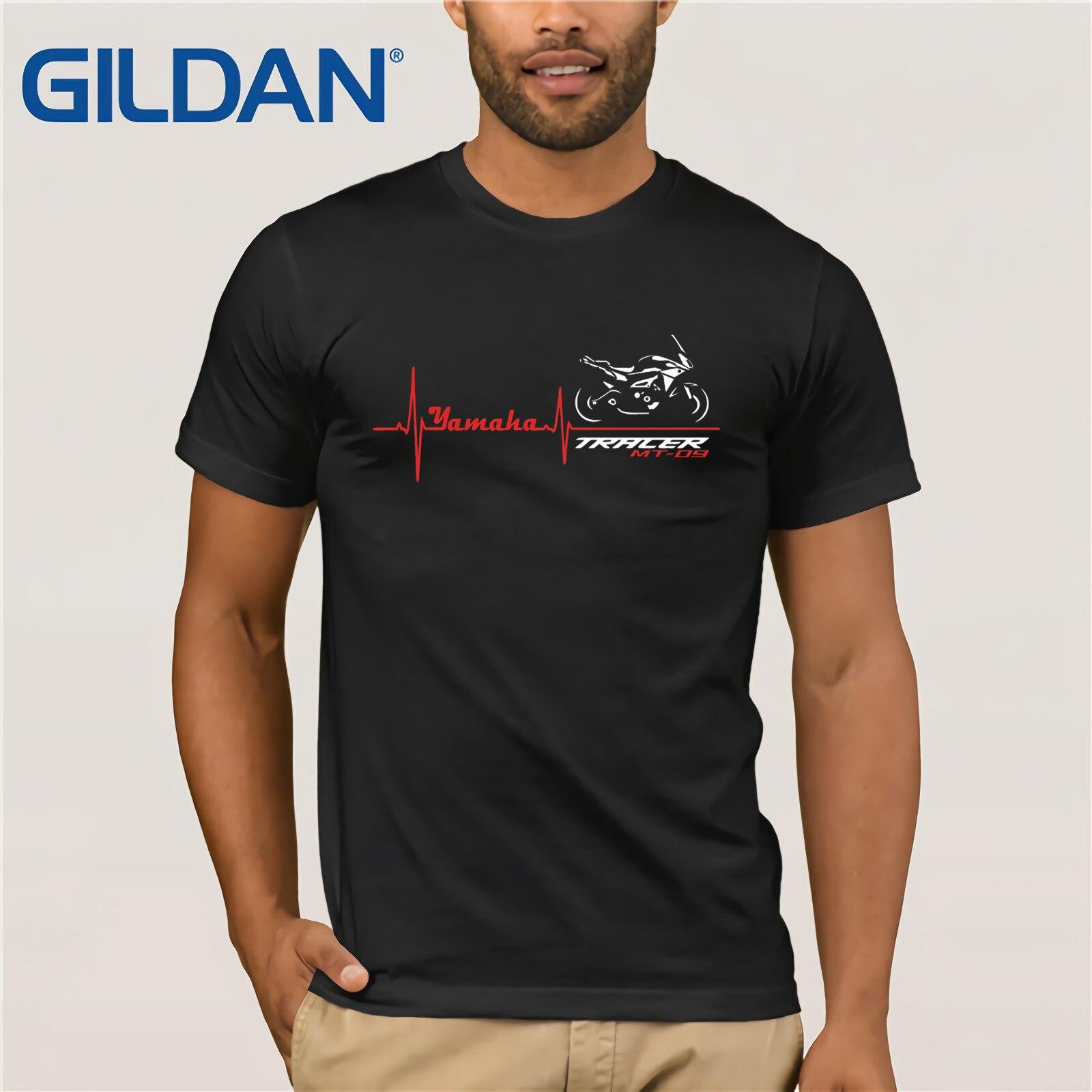 Free Shipping Summer Fashion   T  -  shirt   Motorcycle MT-09 TRACER Battito Cuore   T     SHIRT   MT09 Summer Men Clothing