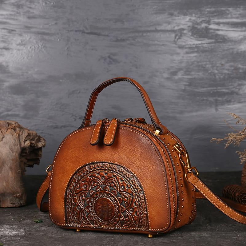 Nesitu rocznika brązowy zielony czerwony prawdziwej skóry skórzana skorupa kształt małe torebki damskie dziewczyny Messenger torby Lady torby na ramię M3205 w Torby z uchwytem od Bagaże i torby na  Grupa 2