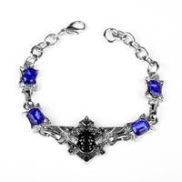 dongsheng Anime Movie Black Butler Phantomhive Cosplay Blue Crystal Charm Bracelet Supernatural Bracelet for Women Men Gift 25