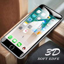3D Curved edge Full Cover Screen Protector For iPhone 7 Plus Tempered Glass On The For Apple iPhone 7 8 Plus Glass Soft 7P Film(China)