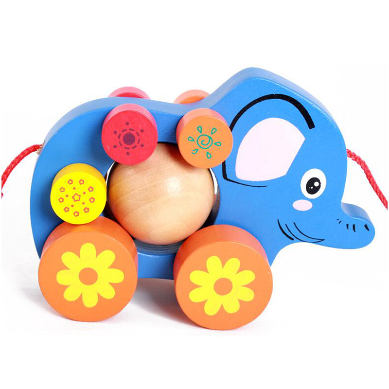 Animal Elephant Wooden Trailer Puzzle Games Toys For Children Animals Learning Educational Puzzle Popular Toys Kids Toys