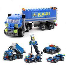 163 pcs Christmas gift Enlighten Child educational toys Dumper Truck DIY toys building block Children toys