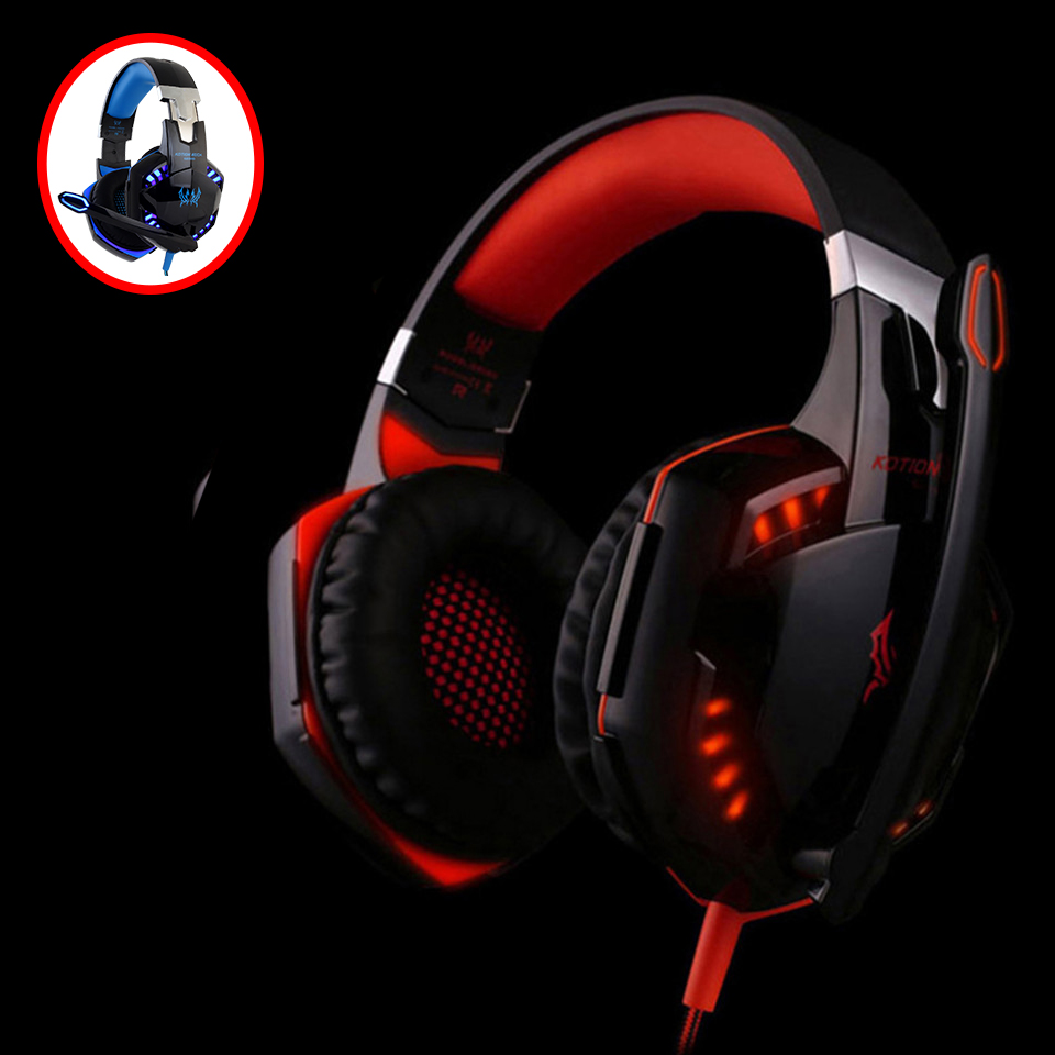KOTION EACH Earphones gaming headset Headphone For Computer 3.5mm plug wired gaming headset with microphone earphones big pc mvpower 3 5mm stereo headphone wired gaming headset with mic microphone earphones for sony ps4 computer smartphone hifi earphone