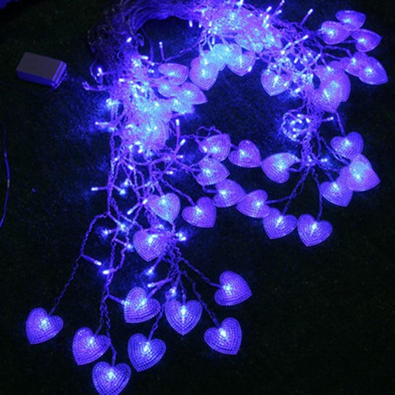 SVELTA 5 CM Luzes Cordas Da Cortina Do Coração LEVOU 4 M 104 - Iluminação festiva - Foto 5