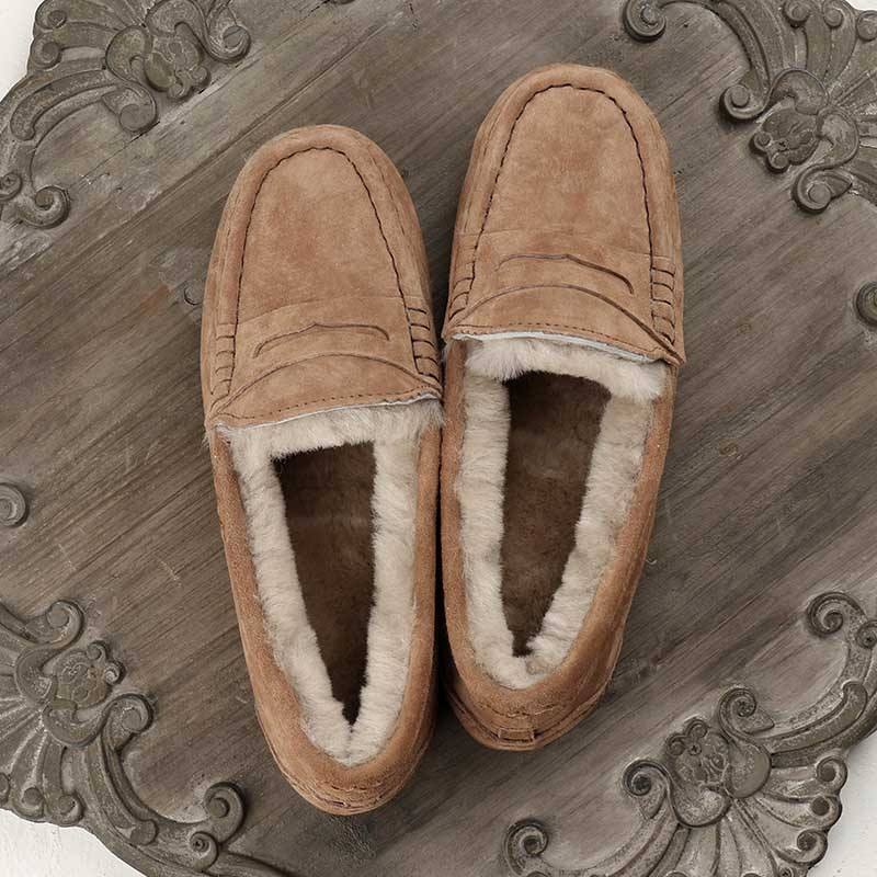 MIYAGINA femmes 100% naturel fourrure chaussures mocassins mocassins doux en cuir véritable loisirs appartements femme décontracté chaussures taille 34 40-in Mocassins from Chaussures    3