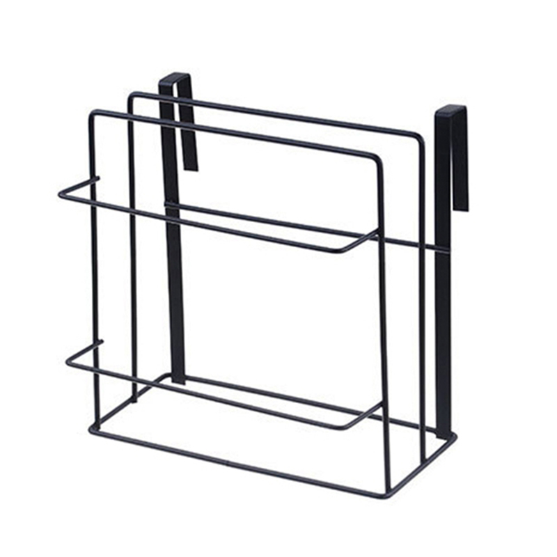 HOT SALE Double Layer Iron Kitchen Cabinets Shelf Chopping Board Storage Rack Shelves Kitchen Holder Rack Free Drilling Black