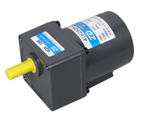 40 Watt 220 V motor with 30:1 ratio micro AC reduction single phase 50Hz gear motor customize size flange is 80x80mm