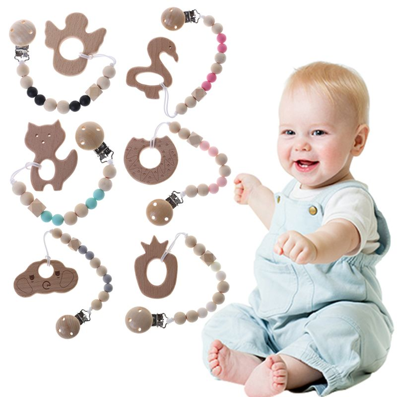 Mother & Kids Dental Care Useful Baby Teethers Baby Pacifier Monkey Silicone Teetherholders For Nipple Baby Pacifier Clip Chain Single Loaded For Infant Feeding