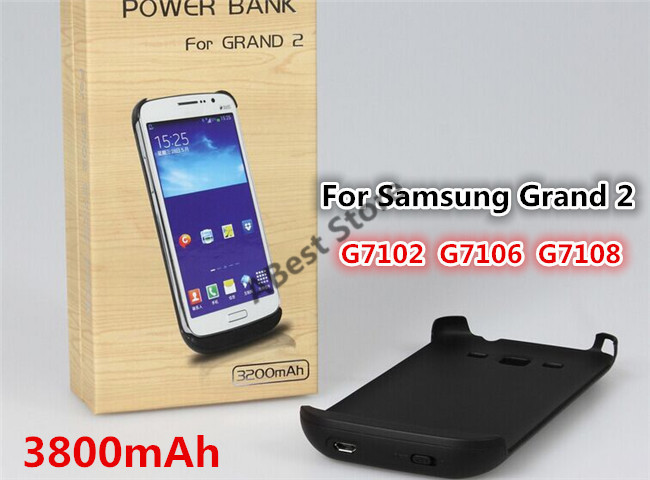 3200mAh Battery case Samsung GRAND 2 (G7102,G7106,G7108). Rechargeable backup power Case samsung  -  ABest Mall store