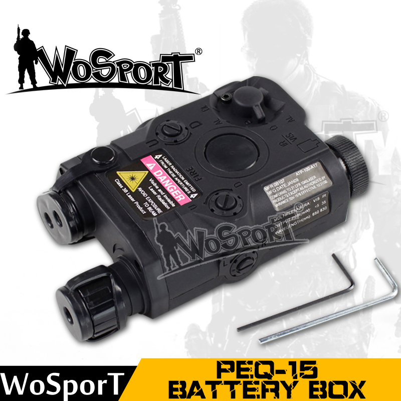 WoSporT Tactical PEQ-15 Battery Case Box Airsoft Hunting Equipment For Tactical Gear Use Paintball