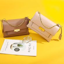 MiiKLN Summer New Leather Female Bag First Layer Cowhide Fashion Ladies Handbag Shoulder Messenger Bag MK Chain Bag стоимость