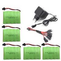 6 v 2400 mah AA NI-MH batterie avec chargeur haute capacité électrique jouet batterie à distance voiture bateau robot rechargeable 6 v 2400 mah