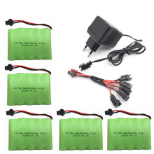 6v 2400mah AA NI-MH Battery with charger High capacity electric toy battery Remote car ship robot rechargeable 6 v 2400 mah(China)