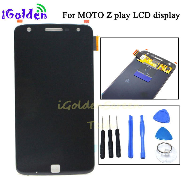100 tested For Motorola Moto Z Play Droid XT1635 LCD Display Touch Screen Digitizer Full Assembly