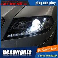 car styling LED Head Lamp for Skoda octavia led headlights 2006 2009 for octavia drl H7 hid Bi Xenon Lens angel eye low beam