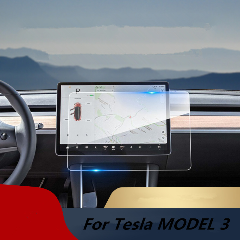 Car Navigation Touch Screen Tempered Glass Protector 15 Center Control Touchscreen Protect Film for Tesla Model