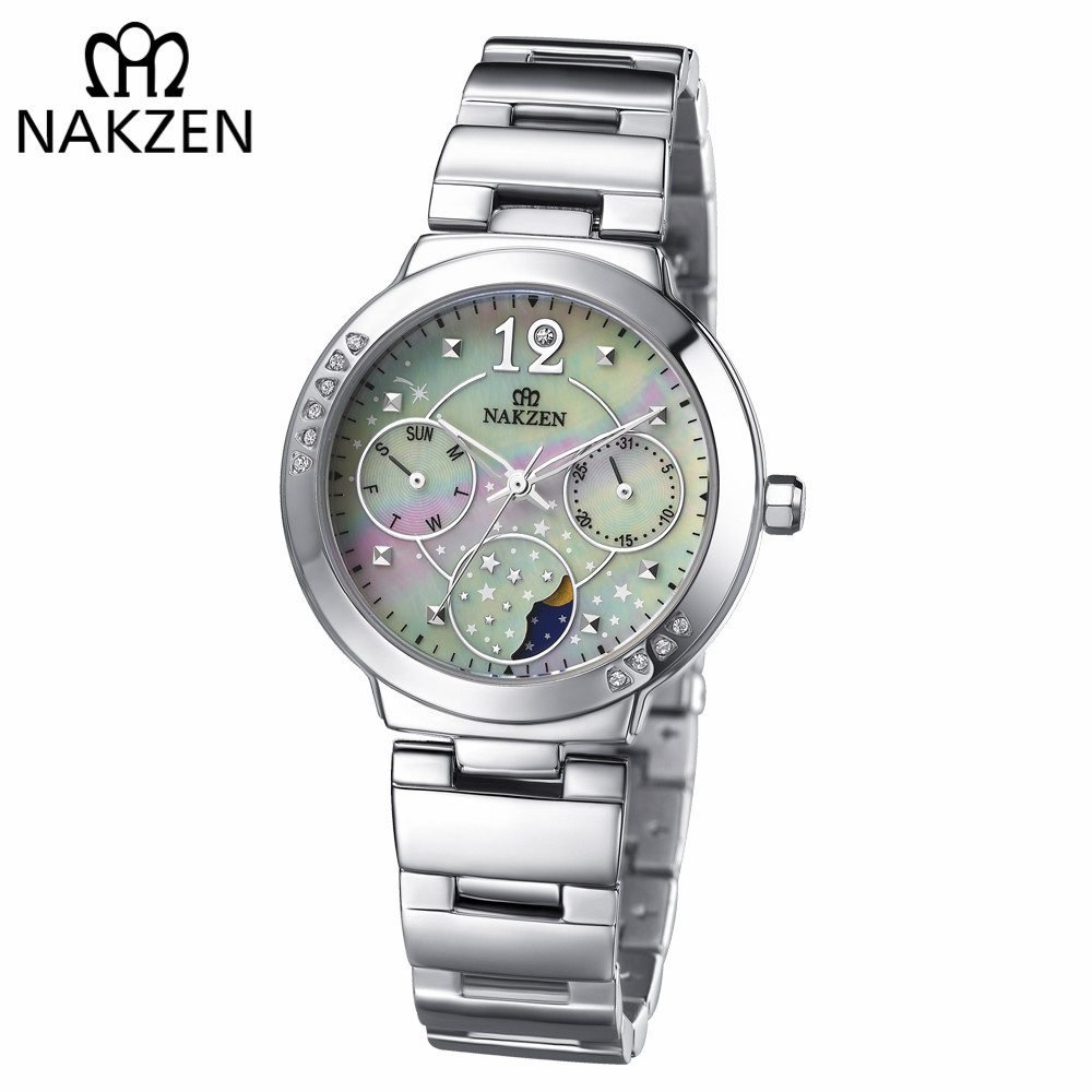 NAKZEN New Fashion Diamond Watch Women's Rhinestone Quartz Watch relogio feminino Ladies Wrist Watch Dress Clock reloj mujer new fashion watch women rhinestone quartz watch relogio feminino the women wrist watch dress fashion watch reloj mujer dift box