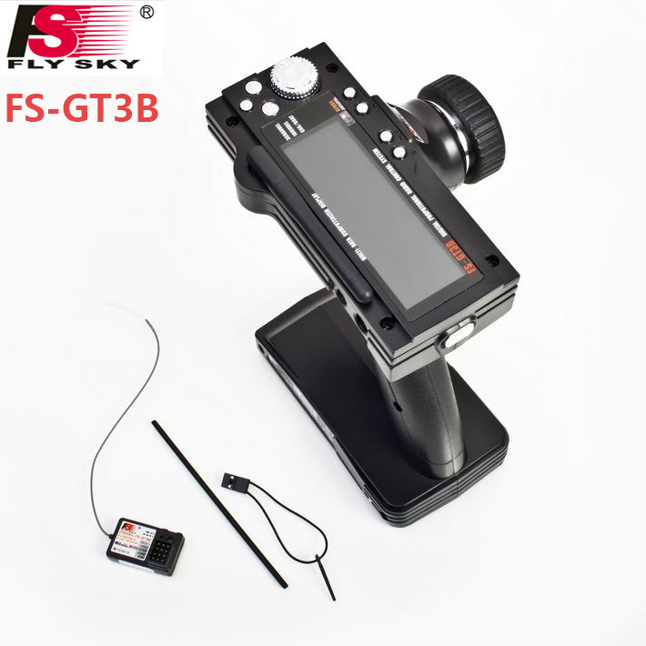 Flysky FS-GT3B FS GT3B 2.4G 3CH Gun RC System Transmitter with Receiver For RC Car Boat with LED Screen f01815 flysky fs gt3b fs gt3b 2 4g 3ch gun controller transmitter no receiver for rc car boat
