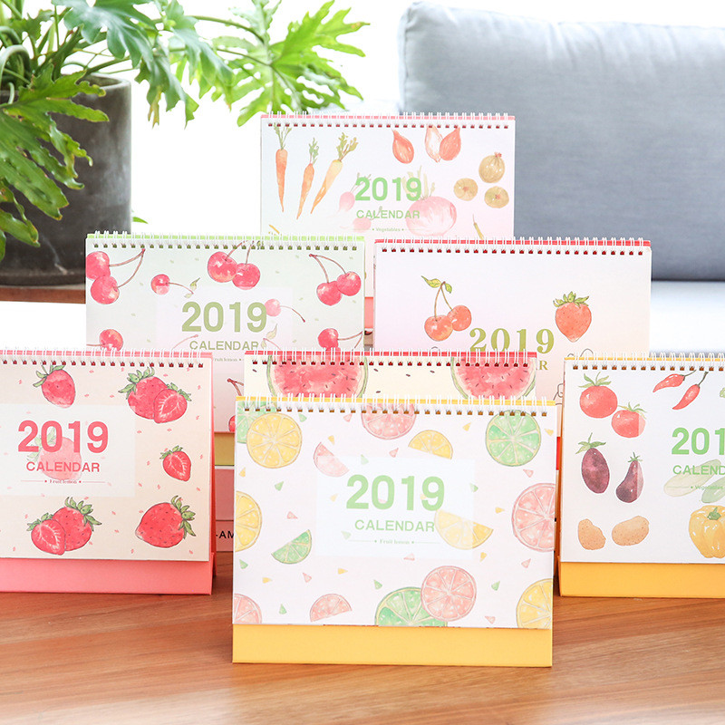 Calendars, Planners & Cards Provided Coloffice 2019 New Style Fruit Simple Desk Calendar Daily Notepad Desk Planner Calendar Office&school Supplies 21.5*25.5cm 1pc Commodities Are Available Without Restriction
