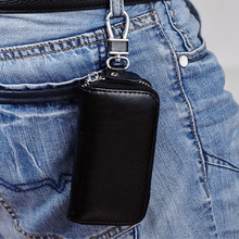2018 Genuine Leather Key Wallets Men & Women Car Key Bag Multi Function Key Case Fashion Housekeeper Key Holders 6 Rings QB19