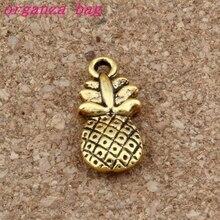 Pineapple fruit Charms Pendants 100Pcs/lot Antique gold Fashion Jewelry DIY Fit Bracelets Necklace Earrings 8.8x19mm A-282x недорого
