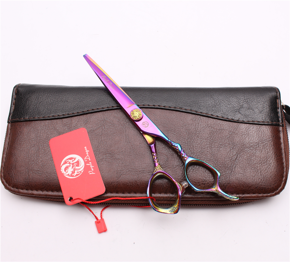 5 5 quot 16cm Purple Dragon 440C Multi Color Cutting Scissors Thinning Shears Hairdressing Scissors Professional Hair Scissors Z9001 in Hair Scissors from Beauty amp Health
