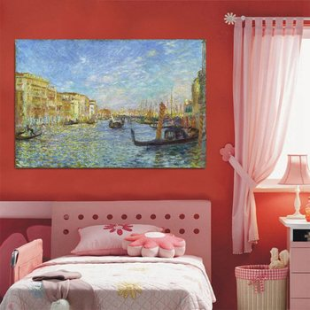 grand Canal Venice Landscape Oil Canvas Painting Hand Painted August Renoir Canvas Painting Home Decor Wall Art