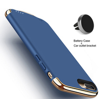 RCN Battery Case For 7Plus 4000mAh 3in1 Ultra Thin Luxury Matte Plating Metal Texture Phone Case