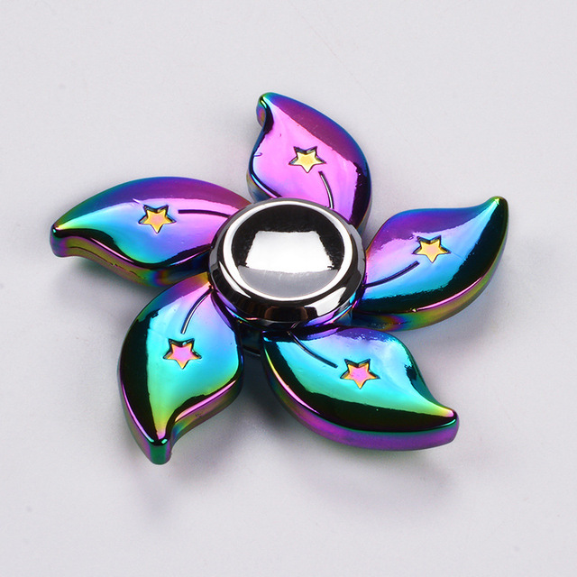 Rainbow Bauhinia Flower Star Fidget Spinner