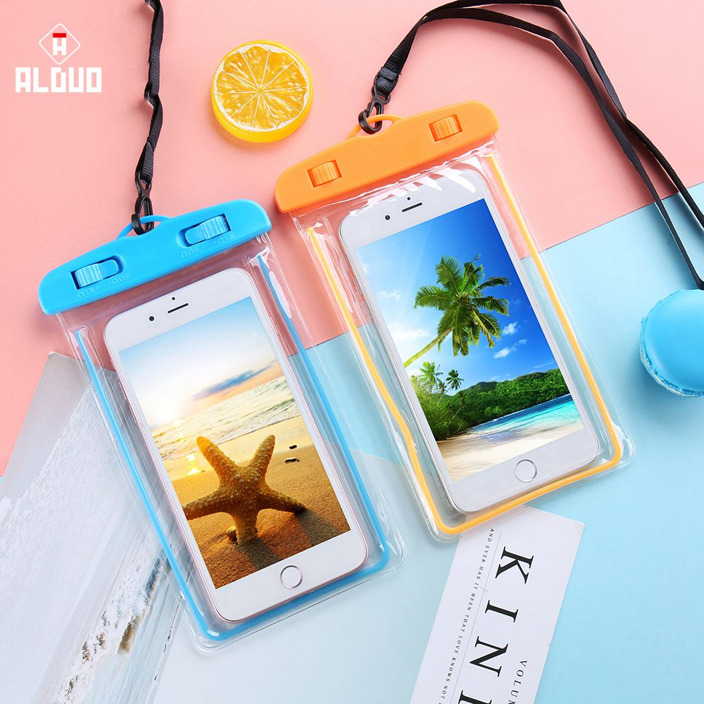 Alangduo Waterproof Phone Case For Samsung Galaxy C10 C9 Pro S8 S9 Plus Cover Luminous Watertight Pouch Bag Case For Galaxy A510 Pure And Mild Flavor