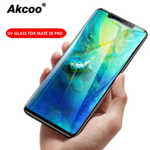 Akcoo Mate 20 Pro Screen Protector with UV full glue glass for Huawei P20 lite cover mate screen film