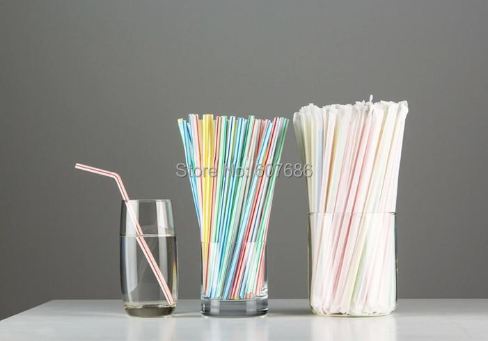 5000 Pieces Paper Individually Wrapped Plastic Drinking